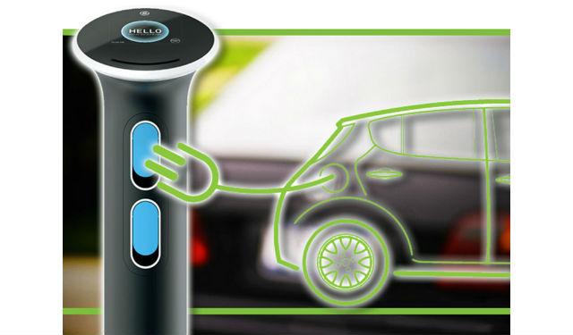 wattstation la nouvelle borne de recharge murale pour v hicule lectrique de ge energy. Black Bedroom Furniture Sets. Home Design Ideas