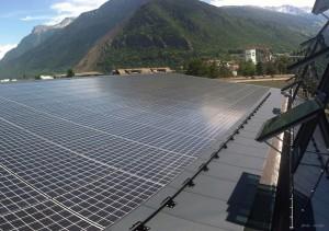 Gymnase de Visp équipé en modules solaires Kyocera