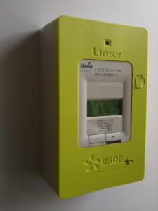 Un compteur Linky, destiné à contrôler sa consommation énergétique.