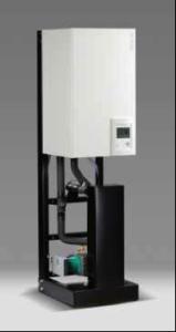 © Atlantic. Hydramax Gaz avec trois modèles de pompes à chaleur de 11 à 16 kW (jusqu'à 48 kW en parallèle) avec des ballons de 500 à 3 000 l.