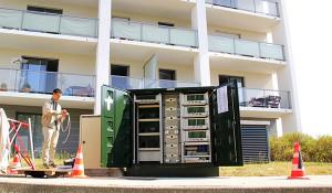 A Cesson, cette armoire optique va amener le très haut débit aux usagers.