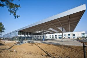 Le forum Hager Group, en construction sur le site d'Obernai accueillera les clients nationaux et internationaux.