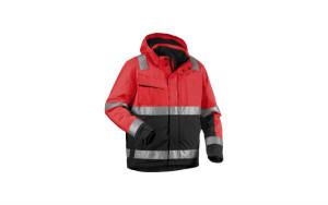 Veste hiver 4870 normée haute-visibilité, normée anti-froid, et normée anti-pluie ; coupe-vent, imperméable et respirant