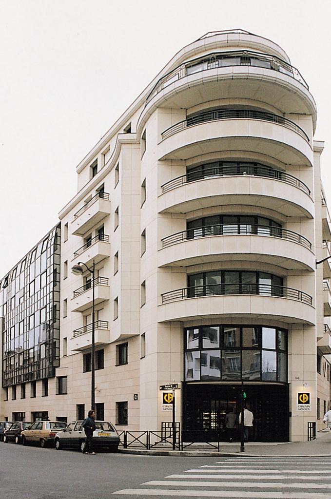 Siège de la rue Championnet, à l'emplacement des anciennes usines de Paris 18ème.