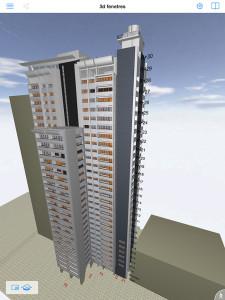 La copropriété devrait atteindre le niveau BBC rénovation, étiquette C (104 kWh/m2 SHON/an. À la clé, une économie annuelle totale estimée à 227 000 € TTC. (c) Architecture Pelegrin