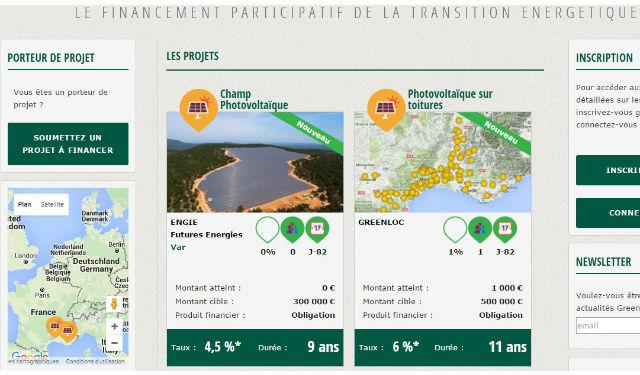 Capture d'écran - GreenChannel, une filiale interne du groupe Engie spécialisée dans le crowdfunding pour la transition énergétique - (c) GreenChannel