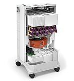 Purificateur avec filtres F8, filtre à charbon et filtre Hyper HEPA (particules de 0,003 micron). (source IQAir)