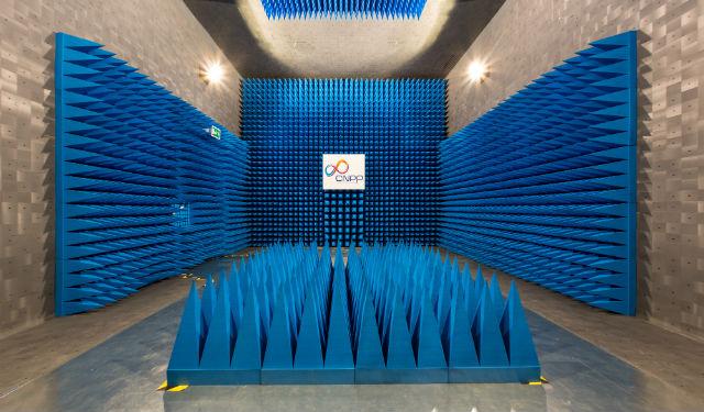 Extension du laboratoire compatibilité électromagnétique inaugurée le 7 juillet dernier. (c) CNPP