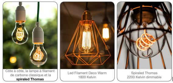 bailey de la lampe incandescence la led filament fili re 3e. Black Bedroom Furniture Sets. Home Design Ideas