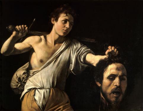 David avec la tête de Goliath. Ca 1606-1607 Caravaggio Kunsthistorische Museum Wien