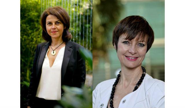 Noémi Petit, Directrice du salon et Catherine Muller, Présidente du salon et de l'Unep paysalia