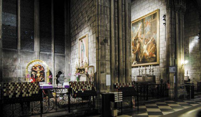 © Targetti, Maîtrise d'ouvrage : Notre-Dame, la DRAC – Conception lumière : Armand Zadikian – Installateur : La Wash – Solution éclairage : Targetti