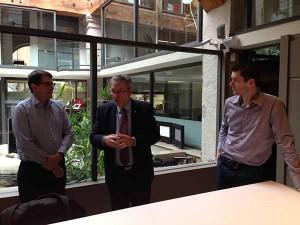 Lionnel Nunney, Directeur général France, et François Pheulpin, directeur marketing, nous reçoivent accompagné de Lucein Crevel S2ICF.