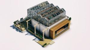 Le prototype « Philéas » s'intègre sur le toit d'un immeuble.