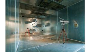 Vue de la chambre de réverbération du laboratoire IETR de Rennes