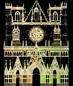 © DR Color or Not, par Yves Moreaux, cathédrale Saint-Jean. Son travail consiste  à créer des images nocturnes, pérennes ou événementielles, en accordant la lumière aux espaces, à l'architecture, à la matière et à la perception.