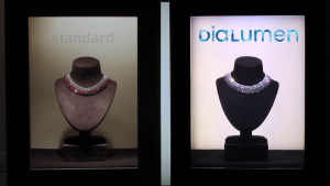 © DiaLumen Éclairage classique (gauche) vs Éclairage DiaLumen (droite)