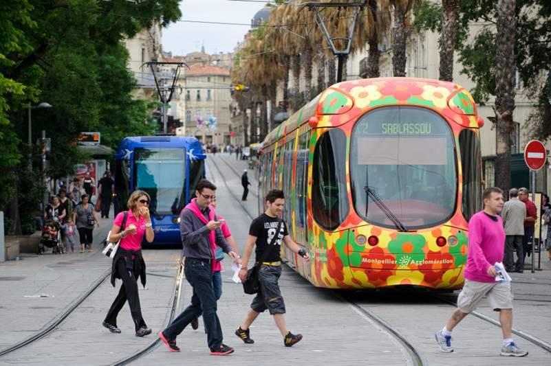 La ville de Montpellier s'inscrit dans une démrche durable, à l'image de son réseau de tramways (c)  Arnaud BOUISSOU MEDDE-METL