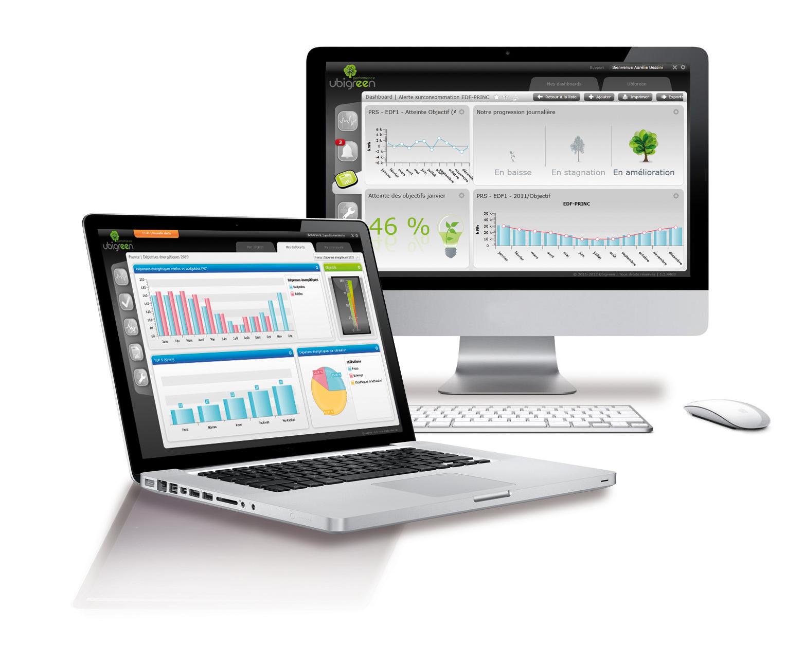 DR : Ubigreen. Les données sont collectées le plus souvent par télérelève ou encore via des Web services pour être mises à disposition des usagers, de l'exploitant, de l'Energy Manager, du financier, via un système d'information énergétique (SIE).