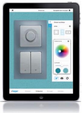 Hager Switch, l'application qui permet de choisir ses interrupteurs en fonction de sa déco. (c) Hager