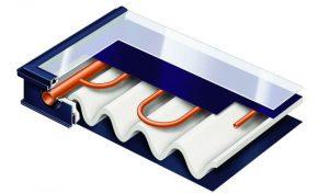 Conçu comme les autres capteurs plans de la gamme Vitosol, le Vitosol-FM se distingue par son absorbeur (A) à revêtement ThermProtect.