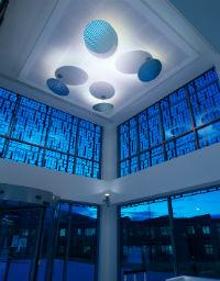 © Christophe Luquet, DYNACentre de R&D Chanel à Pantin (Architecte d'intérieur Saguez & Partners).Lighting