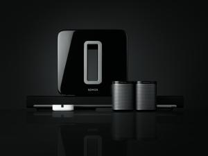 Système 5.1, Sonos composé d'une Playbar, d'un caisson Sub et de 2 Play 1
