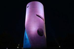 © Akari-Lisa Ishii. © Akari-Lisa Ishii. Prix de la conception lumière 2015 (ex aequo) Akari-Lisa Ishii, Agence I.C.O.N. Mise en lumière du château d'eau de Cherbourg (50)