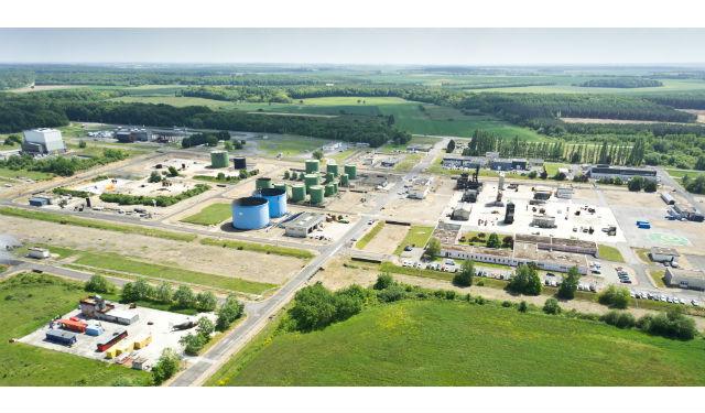 Vue aérienne du site de Vernon de 240 ha. (c) CNPP