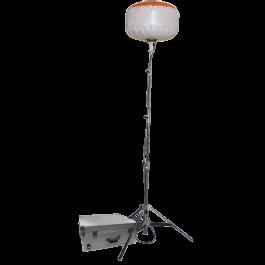 Sirocco 2-S 12 x 10 W LED Version Standard (ballon sur perche télescopique) Existe aussi en version Pro-Pack (mallette complète : ballon, perche, batterie et chargeur)
