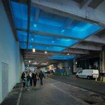 © Xavier Boymond – Voie couverte Robert-de-Flers, Paris, lumière bleue le matin