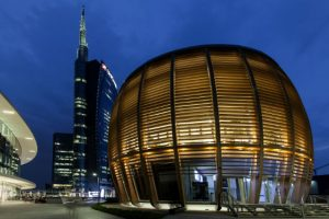 © ERCO . Photo Dirk Vogel – Architecture : aMDL Architetto Michele De Lucchi Sr – Conception lumière : Gruppo C14, Alexander Bellman Unicredit