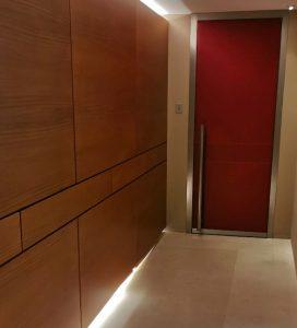 L'éclairage LED utilisé par Privy Elec pour habiller le couloir.