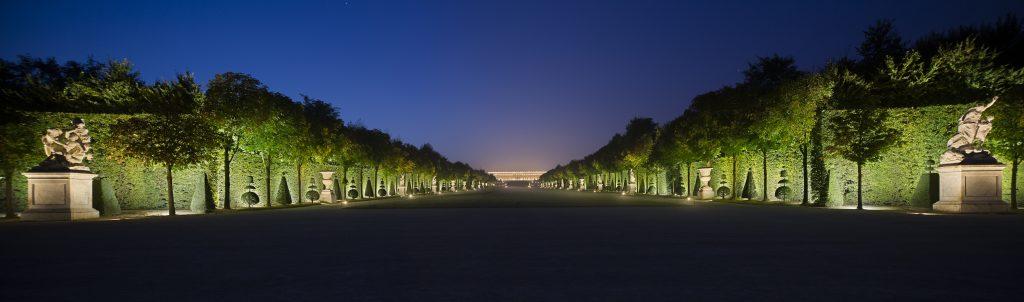 Les jardins de Versailles - Conception lumière : Laurent Fachard. © Les Éclairagistes Associés. Photo Xavier Boymond