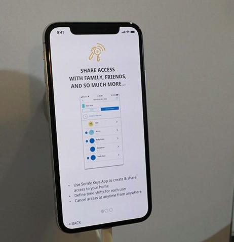 L'application de serrures connectées, dernière innovation de Somfy.