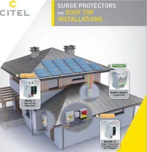 Système de protection des toitures équipées de panneaux photovoltaïques par Citel.