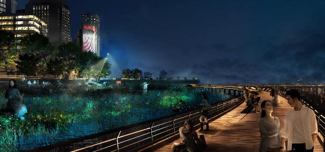La nuit vituelle, par Roger Narboni, CONCEPTO - Shanghai Huang Pu River - Pudong Zoom 1 - ©Fanny Guerard