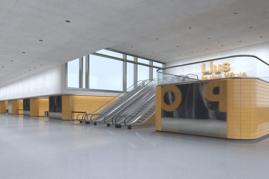 Grâce aux nouvelles dimensions d'Atrium, même les pièces de grande hauteur des bâtiments de circulation modernes peuvent être mises en lumière de manière économique et avec un grand confort visuel.©Erco