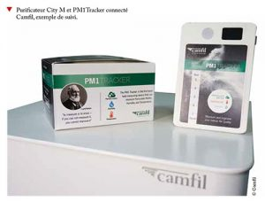 Purificateur PM1Tracker connecté Camfil