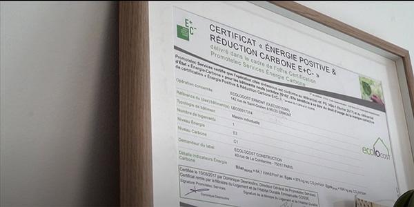 ecolocost certification E+C- passive Haus