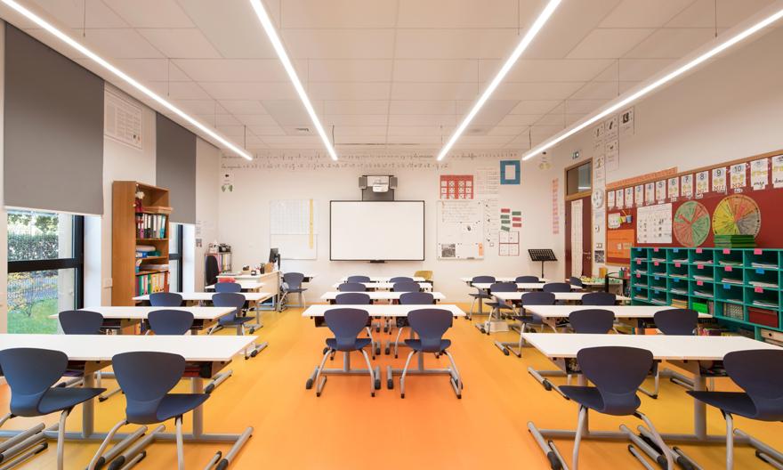 Dossier Éclairage des locaux d'enseignement © Sylvania. Photo Arthur Pequin