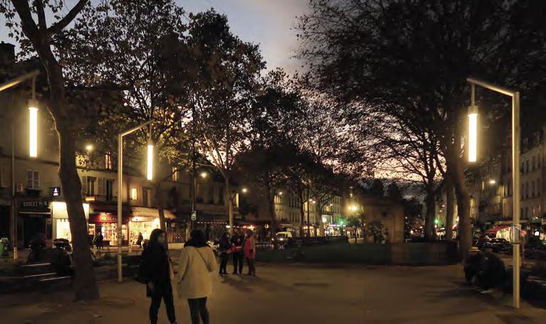 éclairage extérieur public Ville de Paris, 11 arrondissement © Concepto